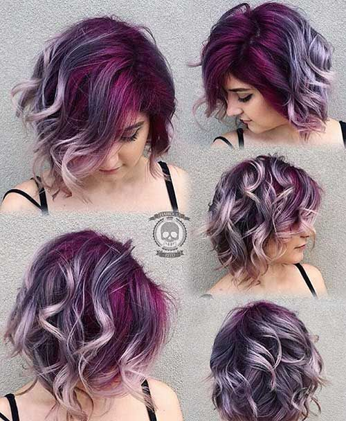 Short Hair Color Ideas 14 In 2020 Hair Styles Purple Hair Ombre Hair Color