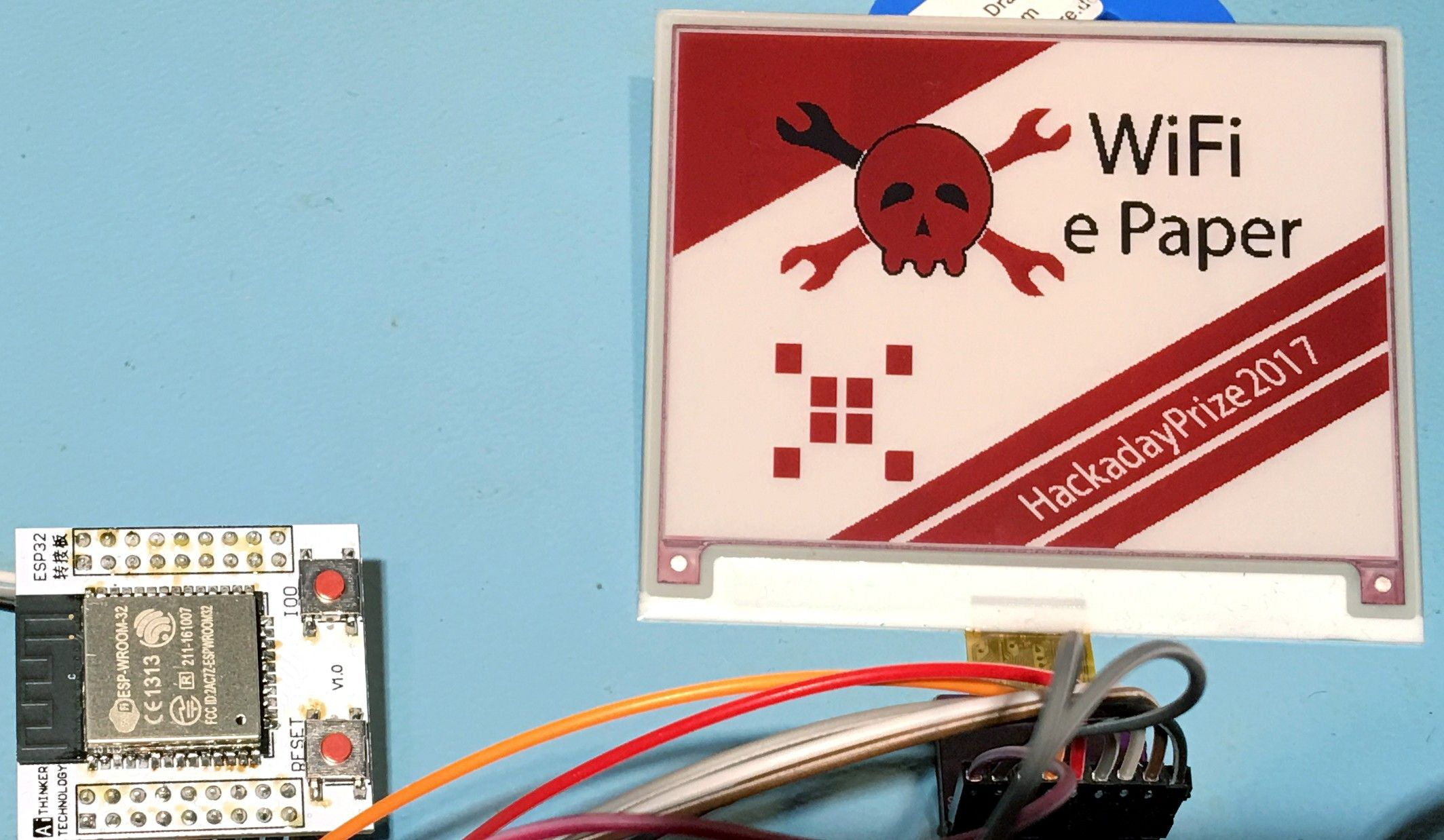 A solar powered ePaper with an ESP32 to update the display over WiFi