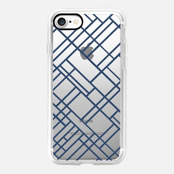 Map Outline 45 Navy Transparent -  #casetifyiphone7 #iphone7 #geometric #abstract #phonecase
