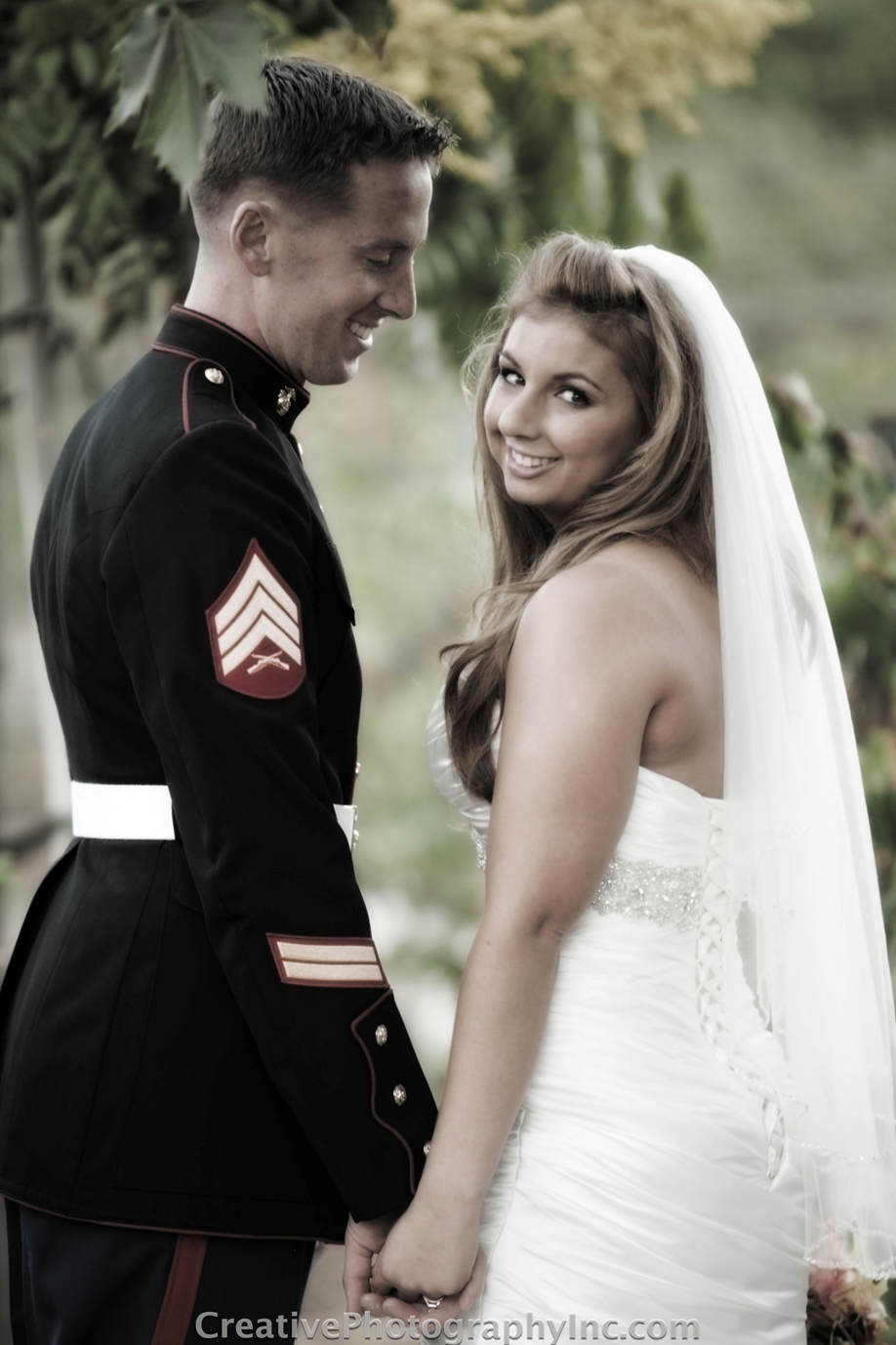 We Love Our Marine Couples Wedding Photos Couples In Love Wedding Bells [ 1378 x 918 Pixel ]