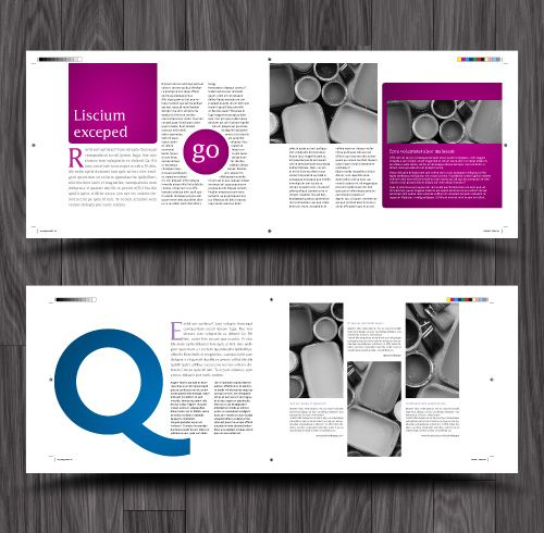 One Page Layout Indesign Magazine Template: Pin On Design