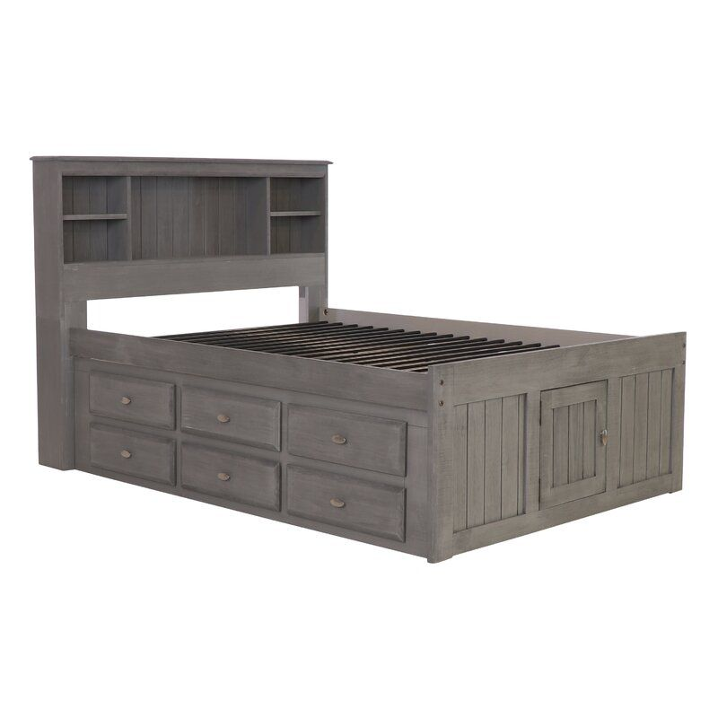 Ercole Full Mate S Bed With 12 Drawers And Bookcase In 2020 Bed Frame With Drawers Bed With Drawers Underneath Panel Bed