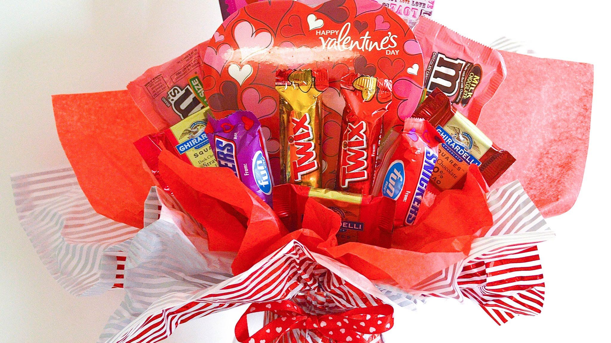 Valentine Candy Bouquet Tutorial Bouquets Pinterest Candy