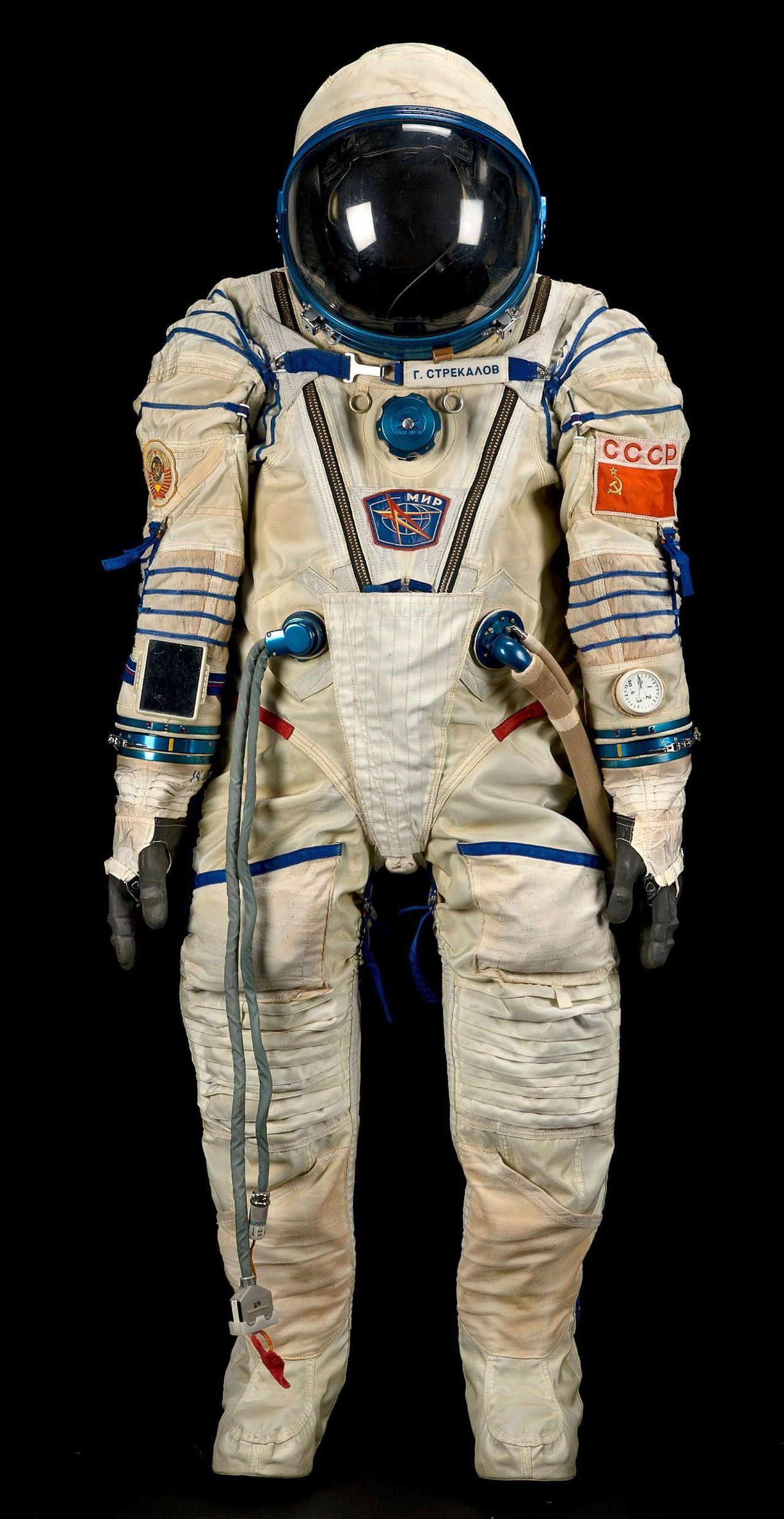 Sokol KV 2 Spacesuit Worn By Gennadi Strekalov During A 1990 Mission To The Mir Space Station