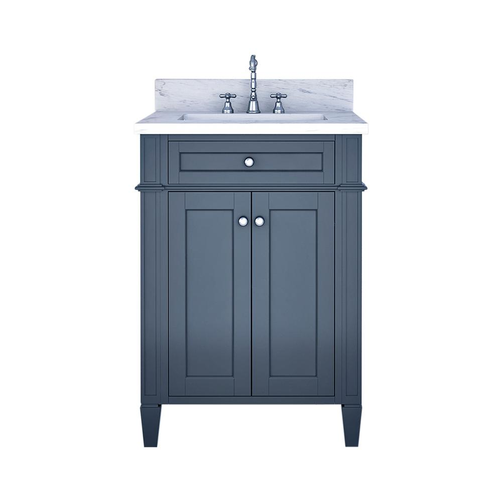 Home Elements Birmingham 24 In W X 34 In H Bath Vanity In Gray