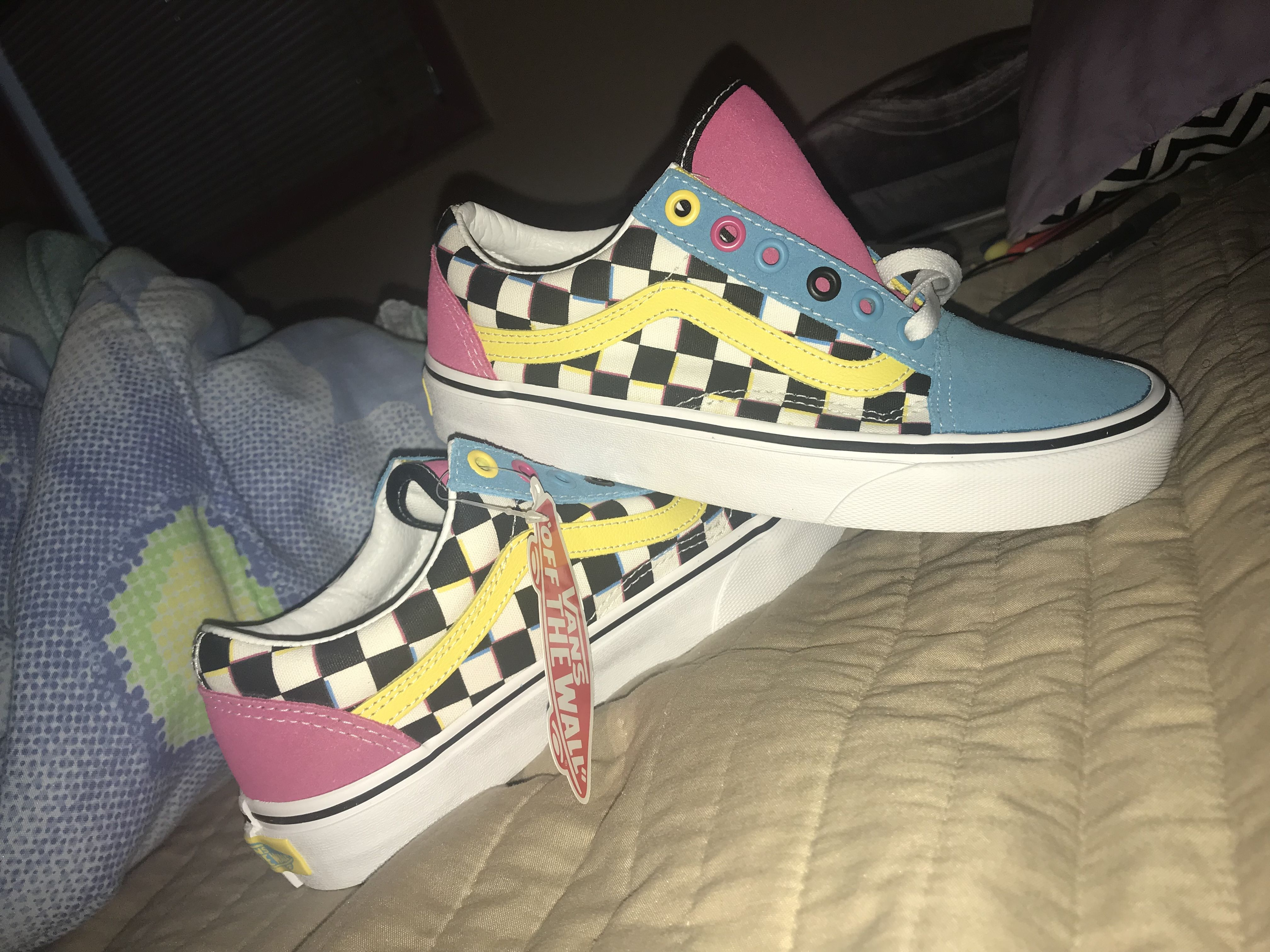 Vans Old Skool Chex Skate Shoe | Shoes