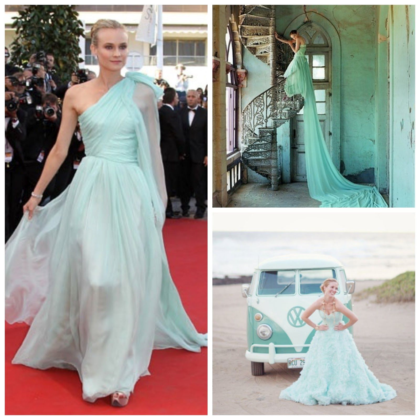 Mint green as a wedding gown! More \