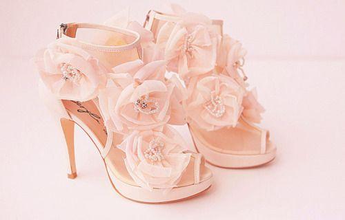 Baby pink rose heels | Fashion high