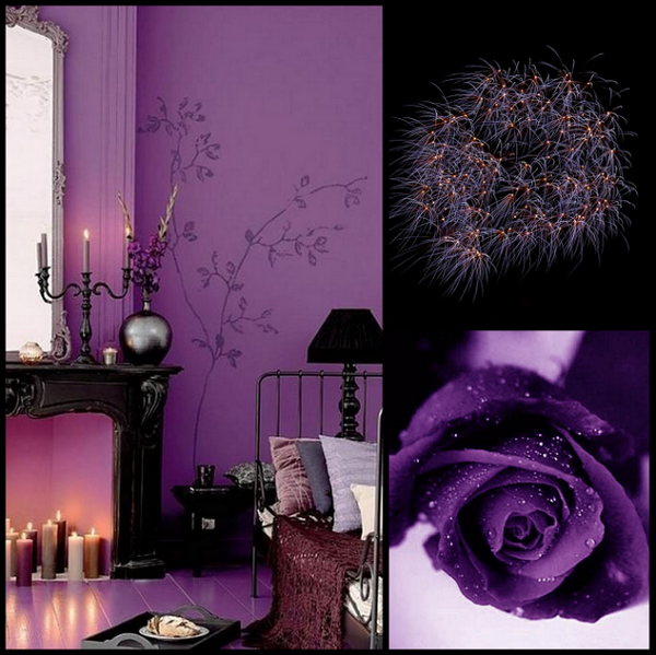 Guest Room = Purple And Black.. I'd Make The Walls