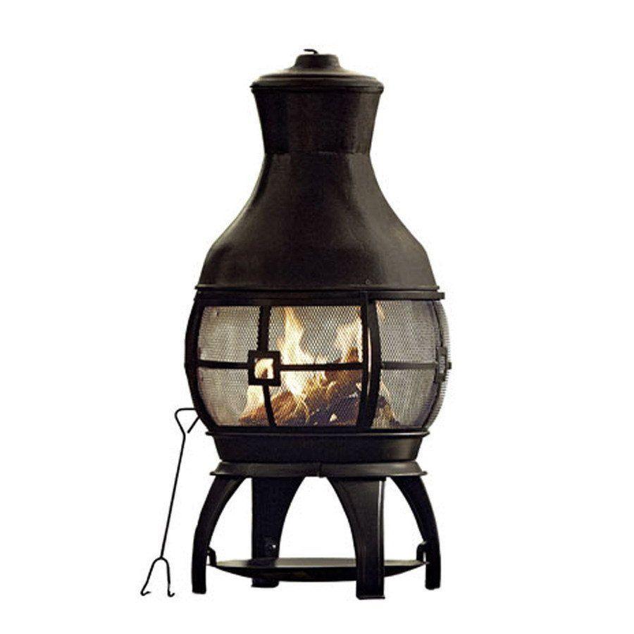 Garden Treasures Wood-Burning Chiminea
