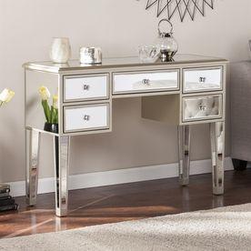 boston loft furnishings impression mirrored fir rectangular console rh pinterest com