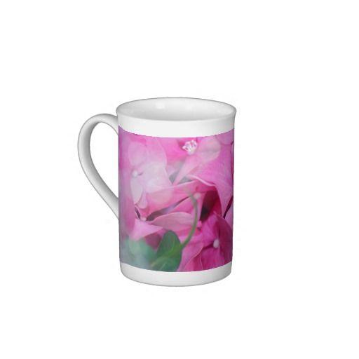 Pink Hydrangeas Bone China Mug