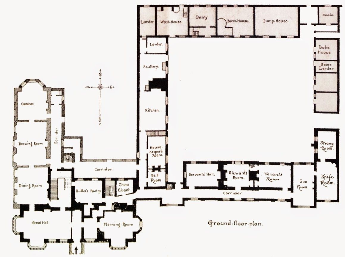 The Great Country Estates Of Britain Series Fellbrigg Hall Country Estate Vintage House Plans House Plans