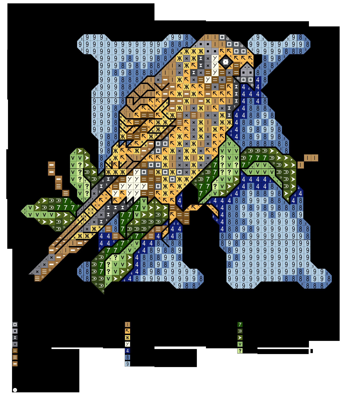 Alfabeto degli uccellini k alfabeti a punto croce for Ricamo punto croce lettere