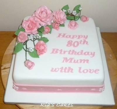 80th birthday cakes Google Search Cake Pinterest 50ste