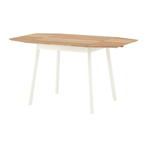 Ikea ps 2012 drop leaf table bamboo white ikea ps for Ikea bamboo dining table