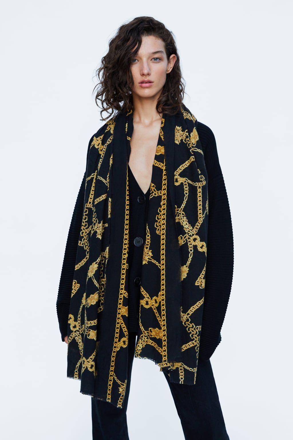 81512330 Image 5 of CHAIN PRINT SCARF from Zara | fw18 in 2019 | Chain, Zara ...