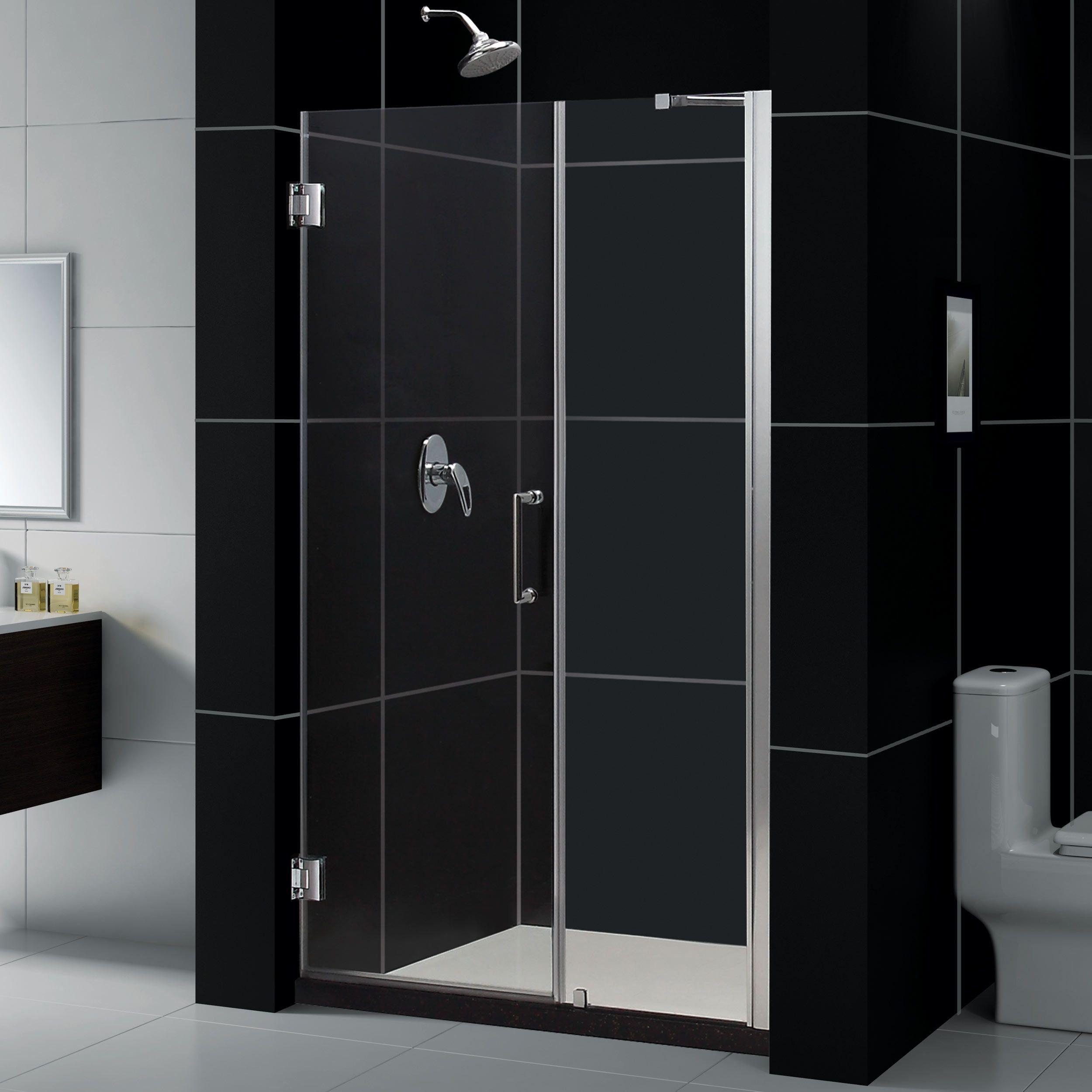 Dreamline Unidoor 51 52 In W X 72 In H Hinged Shower Door With