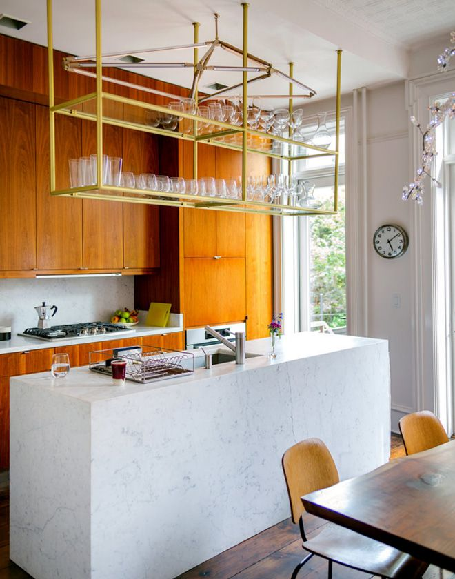 Cheerful yellow kitchen at Mike D\'s (of the Beastie Boys) Brooklyn ...