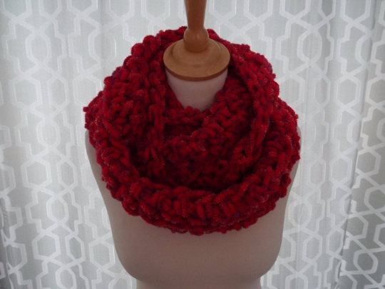 super chunky infinity scarf //snood  hand crafted crochet sky blue gift