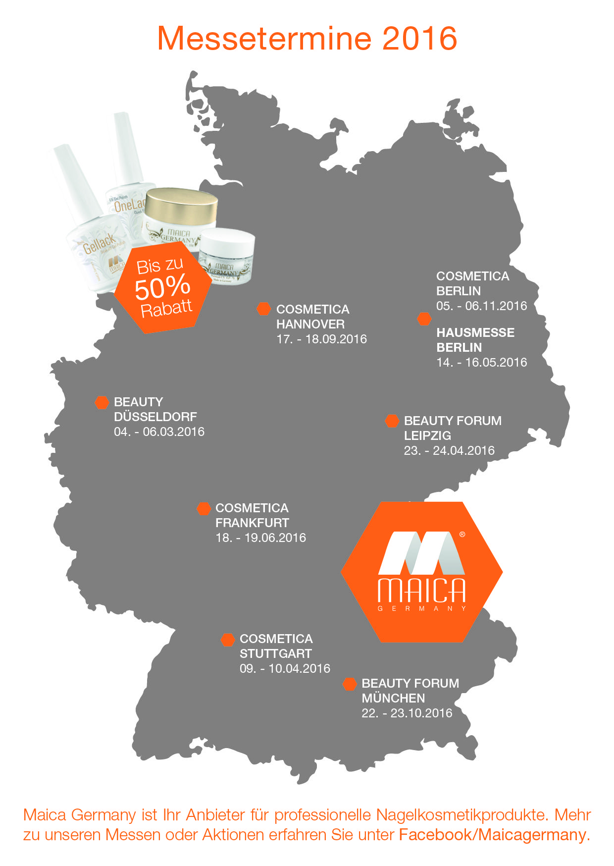 Maica Germany Messetermine 2016 Maica Germany Pinterest Germany Nails Und Cosmetics