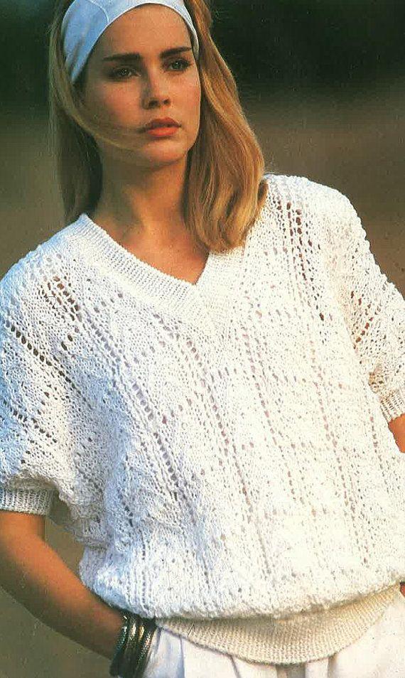Señoras Jumper Knitting Pattern PDF Nº 0512 De TimelessOne Shop ...