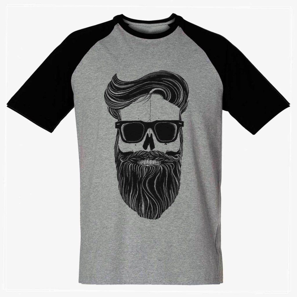 45b812dcc camiseta caveira barba barbuda camisa blusa