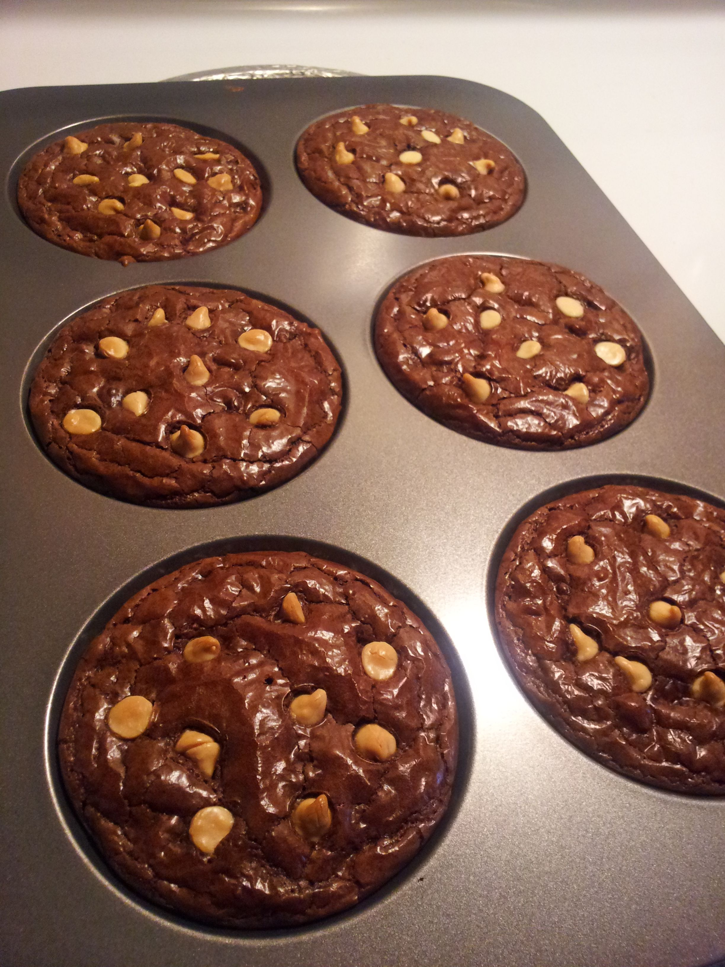 Brownies In A Muffin Top Pan Regular Brownie Mix White
