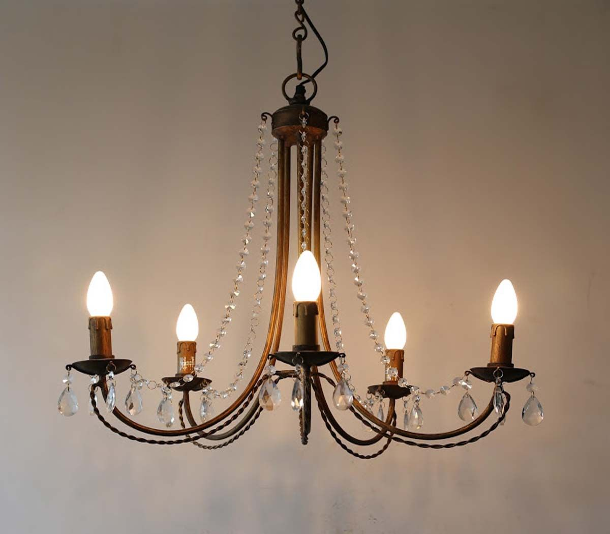 Golden distress chandelier materialtype wrought iron color golden