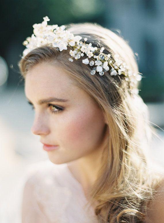 Valentina Golden Flower Crown by GibsonBespoke on Etsy