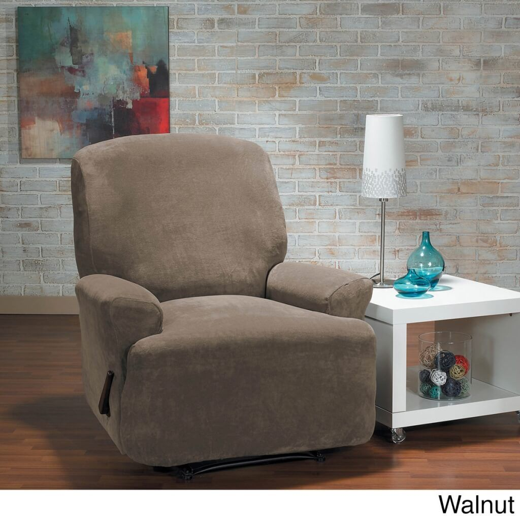 Hanover Stretch Recliner Slipcover And Gray Stretch