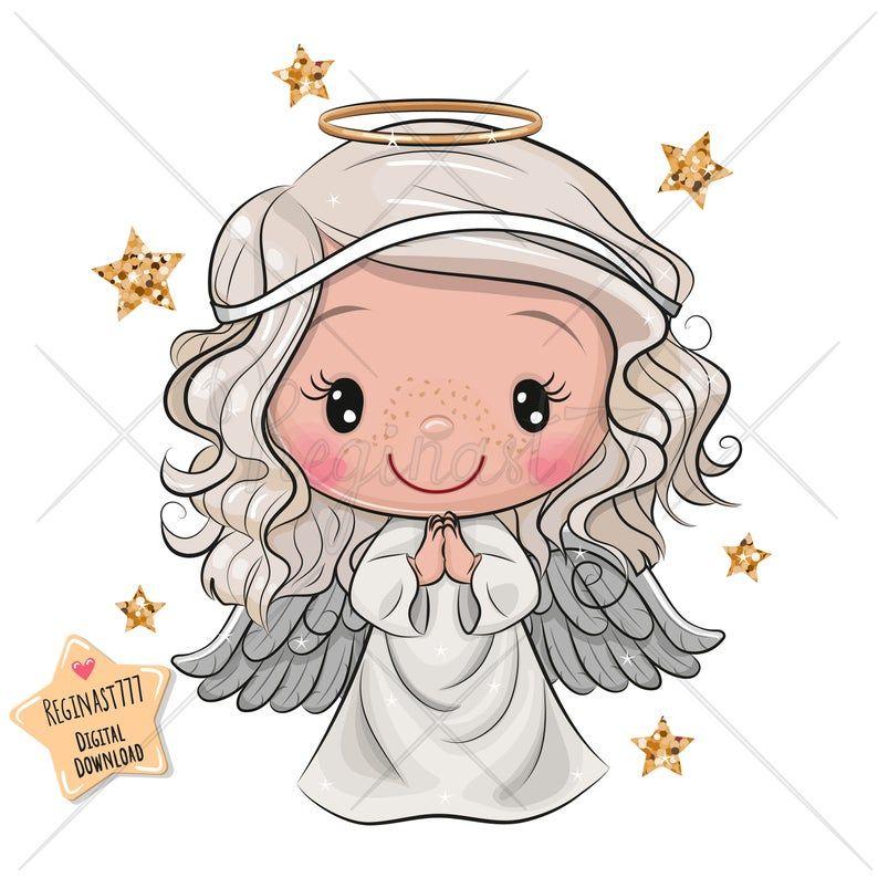Cute Angel Png Digital Download Angel Clipart Party Children Printables Scrapbooking Clip Art Kids Cartoon Christmas Decoration Angel Cartoon Angel Clipart Christmas Angels