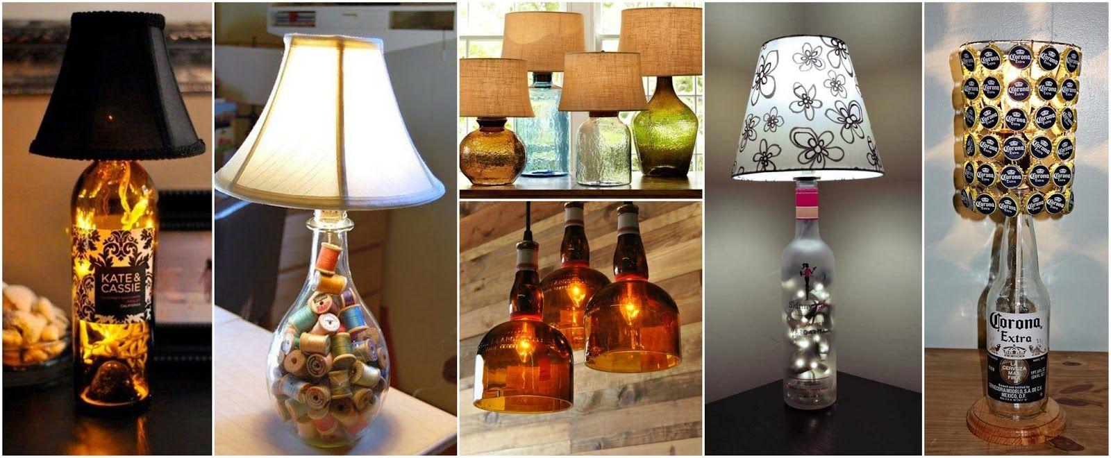 Como Hacer Lamparas Con Botellas De Vidrio Recicladas Lamparas Con Botellas Licor12 Jpg 1600 660 Botellas De Vidrio