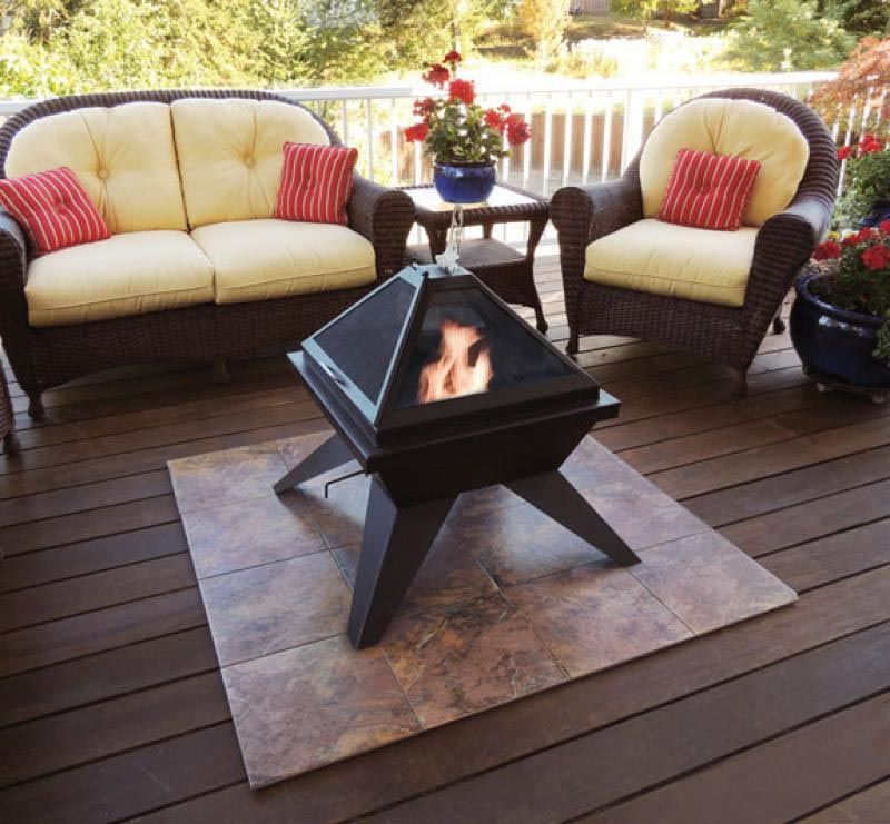 Deck Protect Fire Pit Pad Deck Fire Pit Fire Pit Deck Protector Fire Pit Furniture