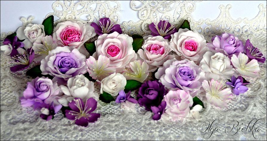 Kwiaty Z Foamiranu Nowe Wzory Paper Flowers Floral Wreath Flowers
