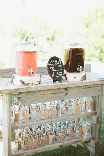 Mason Jar Drink Dispensers Mugs And One Lovely Diy Station Wedding Idea