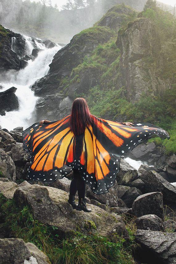 Schmetterling Flügel Monarch Cape Kostüm adult von CostureroReal ...