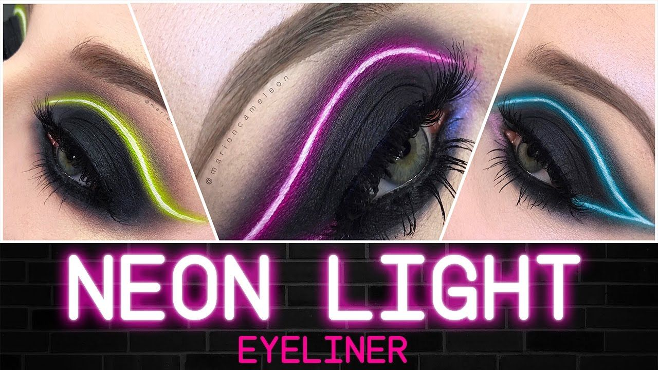 Neon Light Eyeliner Makeup Tutorial Francais English Marion