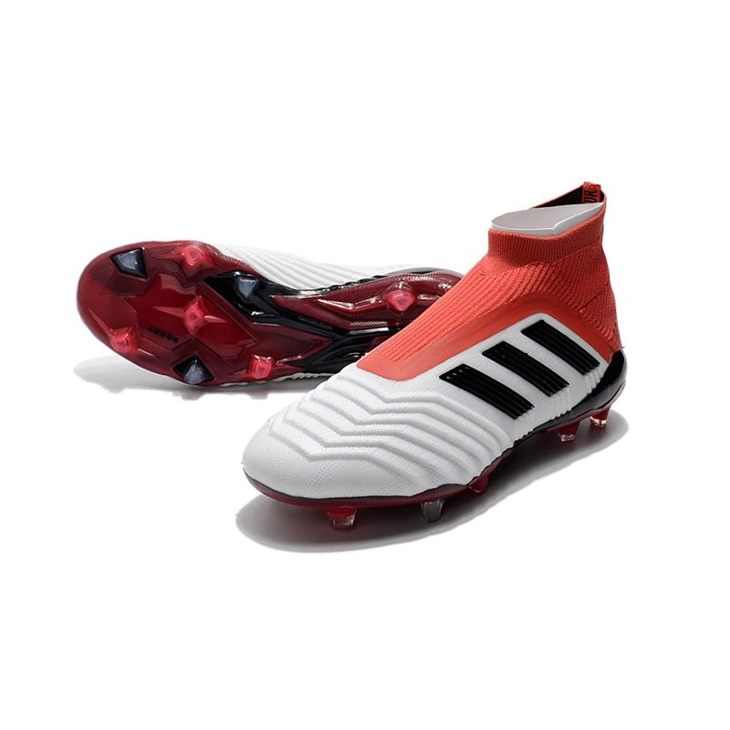 26177ead0 Adidas Predator 18+ FG White Red Falcons With Super Top Matching Football  Shoes CM7391 40 44-in Soccer Shoes from Sports   Entertainment on  Aliexpress.com ...