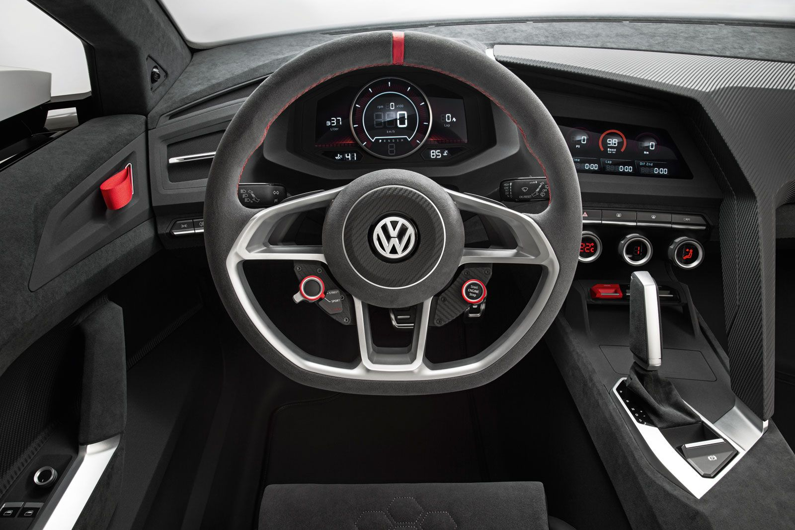 Volkswagen Design Vision Gti Concept Interior Volkswagen Gti