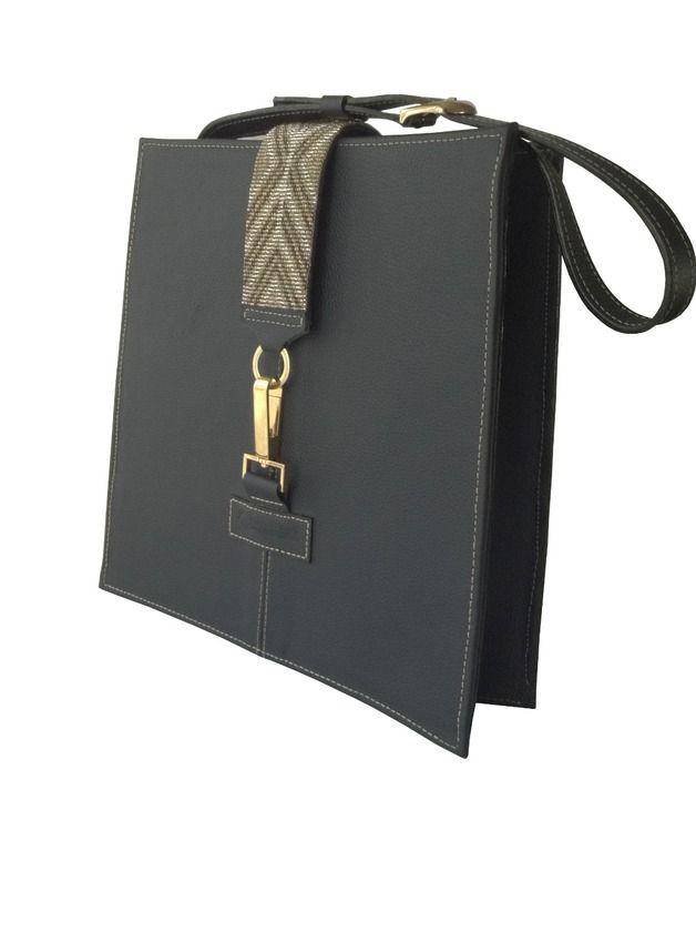 Perfect gift for mum. Leather Bags – LEATHER TOTE WITH TRADITIONAL DESIGN – a unique product by Enna-Terossa via en.DaWanda.com