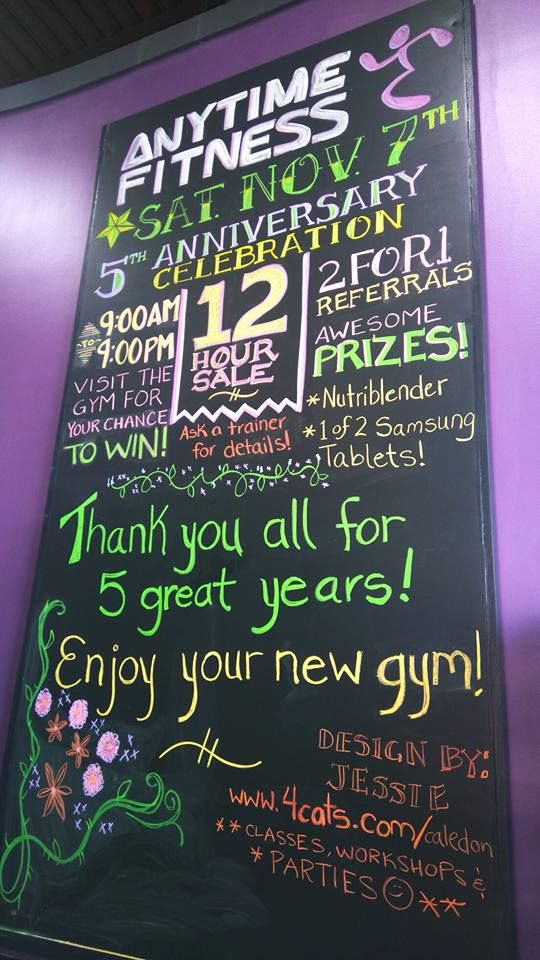 Anytime fitness cotrelle chalkboard wall design by