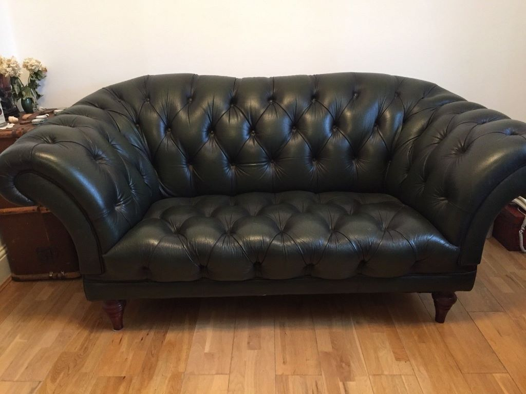 Sofa Gumtree London Chesterfield Leather Sofa Vintage Olive Green 2 Seater In