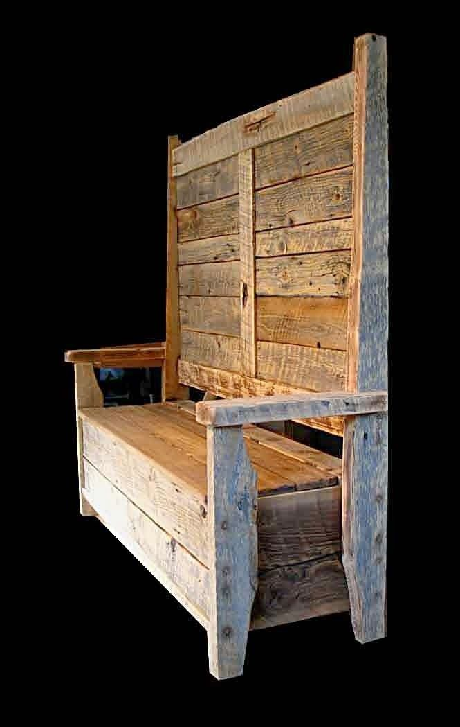 Pallet Storage Bench. #pallets #furniture | MUST HAVE OR DO ...