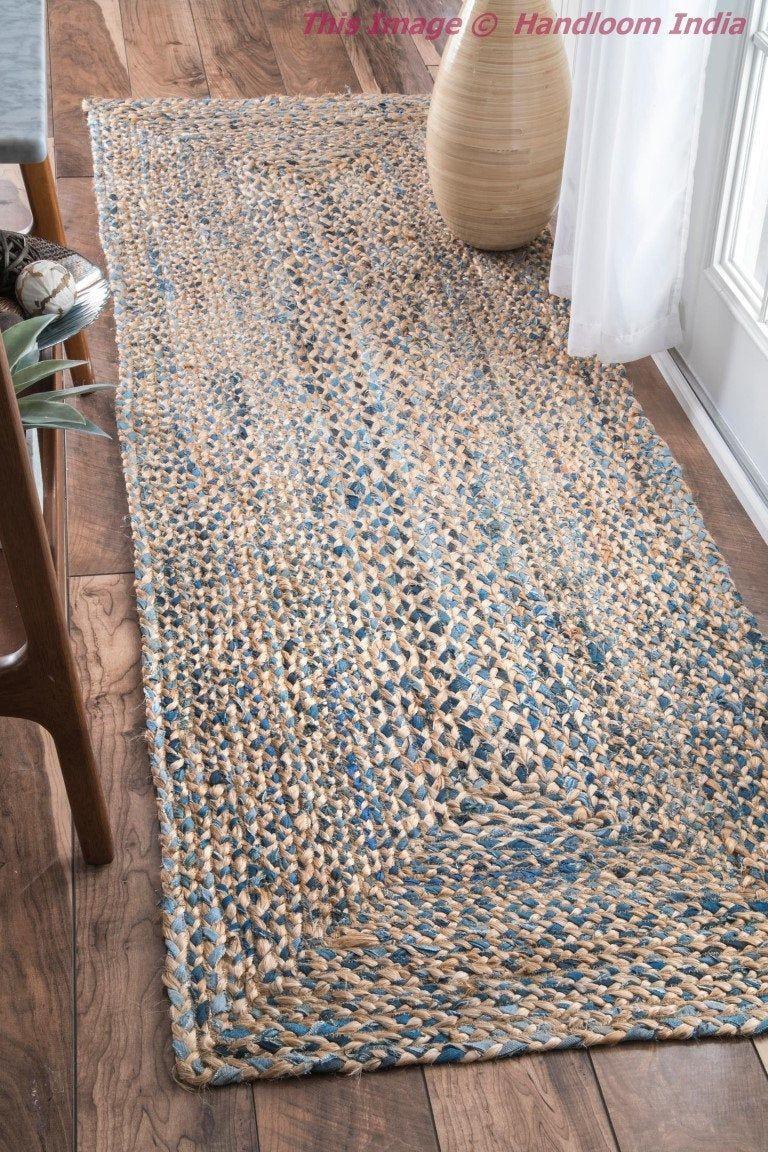 Hallways Runner 2 X 10 Feet Braided Living Room Area Carpet Etsy Rugs On Carpet Jute Rug Runner Rug Decor 2 x 10 runner rug