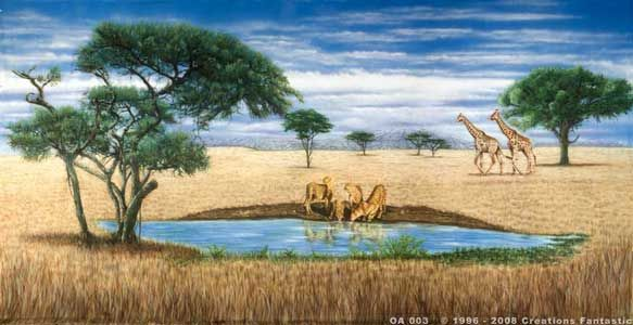 Backdrop OA003 African Savannah 3 | Out of Africa | Pinterest ...