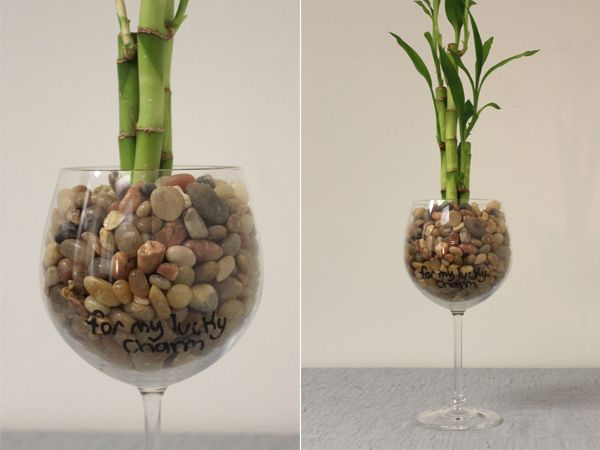 Diy Wine Glass Bamboo Gift With Images Bamboo Gifts Diy Wine