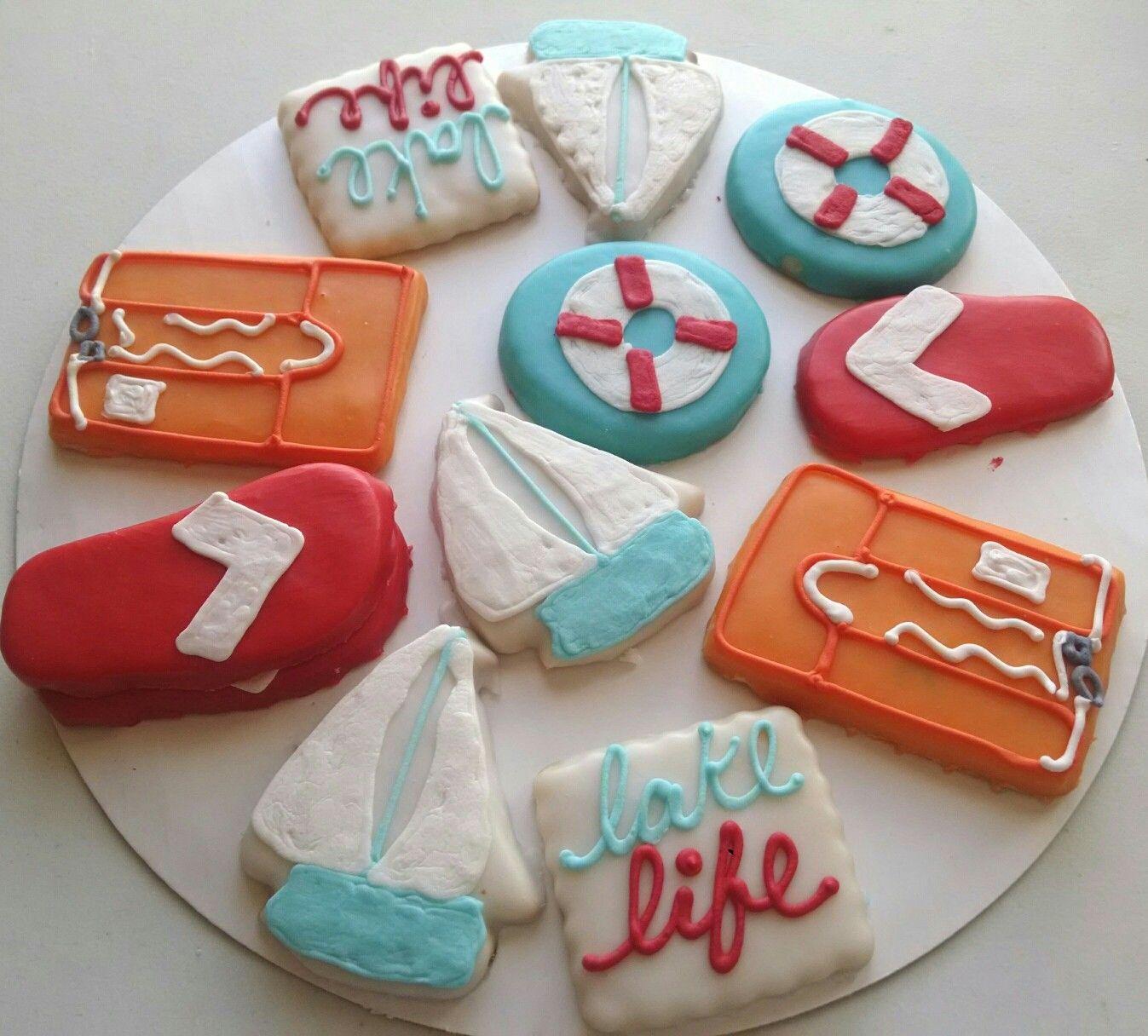 Lake Life Cookies Cookie designs, Cookies, Sugar cookie