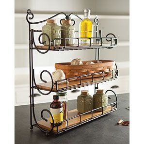 Longaberger Wrought Iron Spice Rack. Can also be used to organize ...
