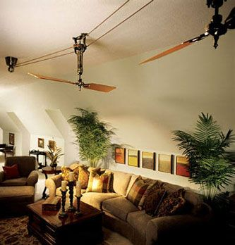 These Fans Will Definitely Get Us There In Style! Brewmaster Belt Driven  Ceiling Fan #BarnLightElectric